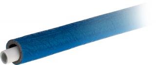 Rura wielowarstwowa PE-Xb/AL/PE uniwersalna w otulinie termoizolacyjnej w płaszczu przeciwwilgociowym - kolor niebieski