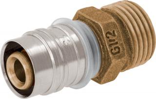 Złączka zaprasowywana z gwintem zewnętrznym GZ – bez powłoki galwanicznej