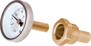 Termometr wkręcany z tuleją